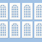 Ratio Ratio Lineside 523 Industrie Fenster (Spur H0/00)