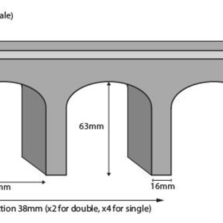 Metcalfe Metcalfe PN141 Spoorbrug in grijze steen (Schaal N)