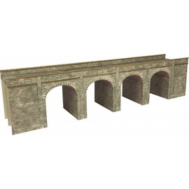Metcalfe Metcalfe PN141 Eisenbahnbrücke in grauem Stein (Baugröße N)