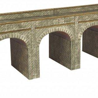 Metcalfe Metcalfe PN141 Spoorbrug in grijze steen (Schaal N, Karton)