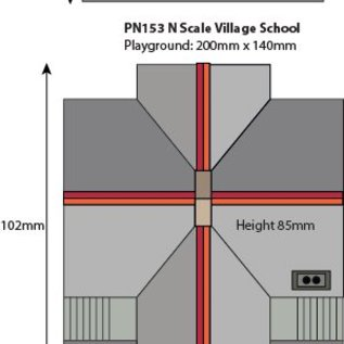 Metcalfe Metcalfe PN153 Dorpsschool (Schaal N)