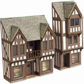 Metcalfe Metcalfe PN190 Middeleeuws vakwerkhuis met winkel in halfreliëf (schaal N)