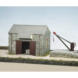 Wills Wills Craftsman Series Kit CK15 Goods shed with loading bank and crane (Gauge H0/00)