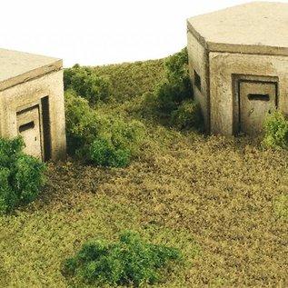 Metcalfe Metcalfe PN820 2 Bunkers (Schaal N, Karton)