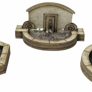 Metcalfe Metcalfe PN823 Stone Fountain Set (Gauge N)