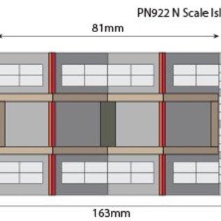 Metcalfe Metcalfe PN922 Island Platform Buildings (Gauge N)
