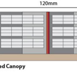 Metcalfe Metcalfe PN941 Wall Backed Platform Canopy (Gauge N)