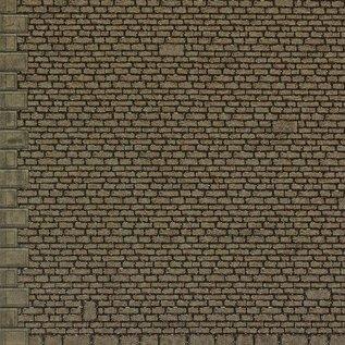 """Metcalfe Metcalfe M0058 Zelfbouw platen """"grof stenen muur"""" (Schaal HO/00)"""