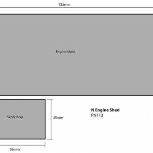 Metcalfe Metcalfe PN113 Zweiständiger Lokschuppen mit Nebengebäude (Spur N)