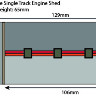 Metcalfe Metcalfe PN931 Enkelspoors locloods in rode baksteen (Schaal N, Karton)