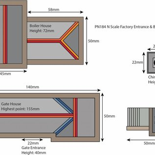 Metcalfe Metcalfe PN184 Heizungsanlage mit Fabrikstor (Spur N)