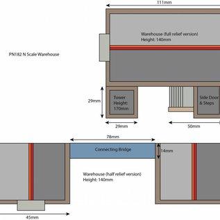 Metcalfe Metcalfe PN182 Opslagloods (Schaal N, Karton)