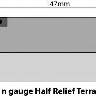 Metcalfe Metcalfe PN175 Reihenhäuser Vorderseiten in grauem Stein (Spur N)