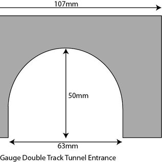 Metcalfe Metcalfe PN142 Double track tunnel entrances (N-Gauge)