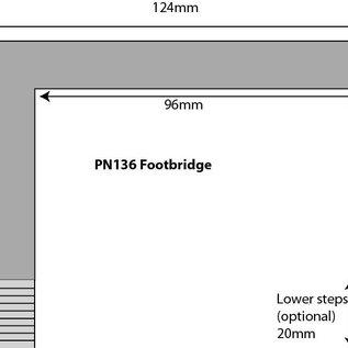 Metcalfe Metcalfe PN136 Voetgangersbrug voor bij station (Schaal N)