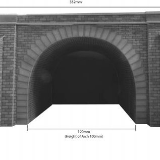 Metcalfe Metcalfe PO242 Double track tunnel entrances (H0/OO gauge)