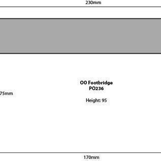 Metcalfe Metcalfe PO236 Voetgangersbrug voor bij station (schaal H0/OO)