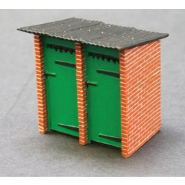 Skytrex Skytrex 7/257 brick build toilet block (Gauge O)