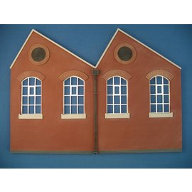 Skytrex Skytrex SMRS37 2 bay North light gable 4x window  (Gauge O)