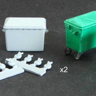 Skytrex Skytrex SMRA41 industrial wheelie bins (Gauge O)