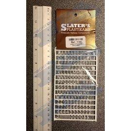 Slater's Plastikard SL1106 Miniatur Buchstaben 6mm Slaters