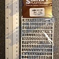 Slater's Plastikard SL1106 Miniature letters (alphabet) 6mm Slaters