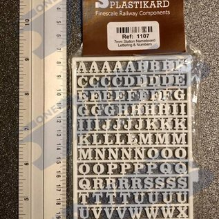 Slater's Plastikard SL1107 Miniature letters (alphabet) 7mm Slaters