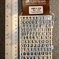 Slater's Plastikard SL1107 Miniatuur letters (alfabet) 7mm Slaters