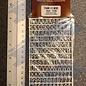Slater's Plastikard SL1108 Miniatuur letters (alfabet) 8mm Slaters