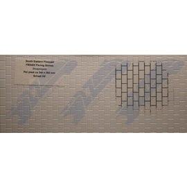 South Eastern Finecast FBS405 Builder Sheet Paving stones , H0/OO gauge, plastic