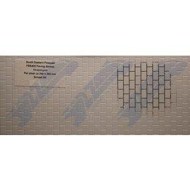 South Eastern Finecast FBS405 Selbstbauplatte Pflastersteine. Maßstab H0/OO aus Kunststoff