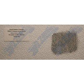 South Eastern Finecast FBS417 Builder Sheet embossed Dressed stone blocks, H0/OO gauge, plastic