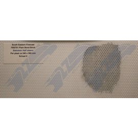 South Eastern Finecast FBS701 Builder Sheet embossed plain bond brick, O gauge, plastic