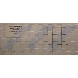 South Eastern Finecast FBS705 Builder Sheet Paving stones , O gauge, plastic