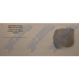 South Eastern Finecast FBS201 Builder Sheet embossed plain bond brick, N gauge, plastic