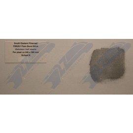 South Eastern Finecast FBS201 Selbstbauplatte Backstein in halbstein Verbund. Maßstab N aus Kunststoff