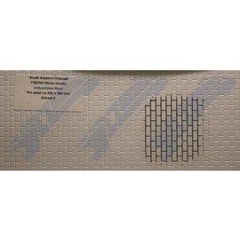 South Eastern Finecast FBS704 Builder Sheet embossed Stone blocks, O gauge, plastic