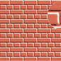 Slater's Plastikard SL400 Builder Sheet embossed with english bond brickwork in stone red, 0-Gauge, plastic