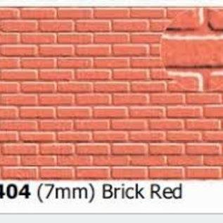 Slater's Plastikard SL404 Plasticard Plain bond Brick Red, 0 Gauge
