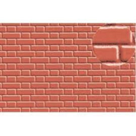 Slater's Plastikard SL410 Builder Sheet embossed with flemish bond brickwork in stone red, 0 gauge, plastic