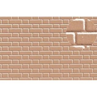 Slater's Plastikard SL412 Builder Sheet embossed with flemish bond brickwork in grey, 0 gauge, plastic