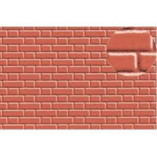 Slater's Plastikard SL407 Builder Sheet embossed with flemish bond brickwork in stone red, H0/OO gauge, plastic