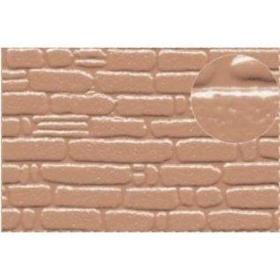 Slater's Plastikard SL420 Zelfbouwplaat natuurstenen muur, Schaal 0, Kunststof