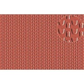 Slater's Plastikard SL444 Selbstbauplatte Dachbedeckung/Ziegel in steinroter Farbe. Maßstab N aus Kunststoff