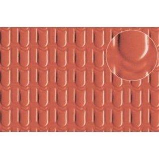 Slater's Plastikard SL441 Selbstbauplatte Dachbedeckung/Ziegel in steinroter Farbe. Maßstab H0/OO aus Kunststoff