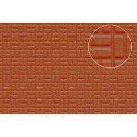 Slater's Plastikard SL454 Zelfbouwplaat rode baksteen bestrating, Schaal H0/OO, kunststof