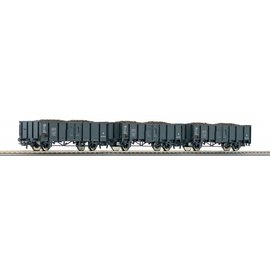 Roco Roco 66136 Set Open freight cars with coal load CFL DC era III (gauge HO)