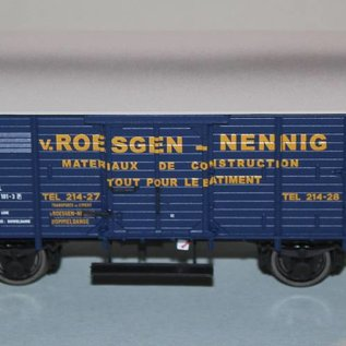 "Brawa Brawa 48222 Covered freight car ""Roesgen Nennig"" CFL DC era III (gauge HO)"