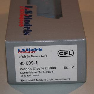 """LS Models 95 009-1 Gesloten wagon """"Air Liquide"""" CFL DC periode IV (schaal HO)"""
