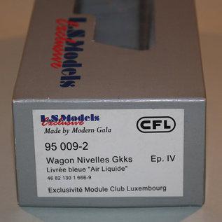 "LS Models 95 009-2 Gedeckter Güterwagen ""Air Liquide"" CFL DC Epoche IV (Spur HO)"